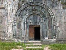 Gavit入口, Haghpat修道院 库存照片