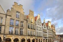 Gavlar av byggnader i Munster, Tyskland Royaltyfri Foto
