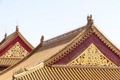 Gavlar och tak Forbidden City, Peking arkivbild