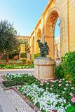 Gavroches small boys monument at Upper Barracca Gardens Valletta. Gavroches small boys monument at Upper Barracca Gardens in Valletta, Malta Stock Photography