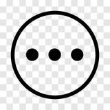 Gawędzi znaka, trzy kropek ikona - wektorowy ikonowy projekt Ilustracja Wektor