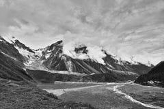 Gawalong冰川 库存照片