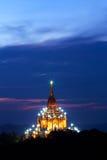 Gawdawpalin-Pagode in der Dämmerung in archäologischer Zone Bagan, Mya Lizenzfreie Stockfotografie