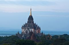 Gawdawpalin pahto pagoda in Bagan, Myanmar Royalty Free Stock Images