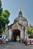 Gawdawpalin-Tempel-Haupteingang Bagan myanmar Lizenzfreies Stockbild