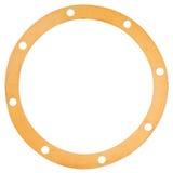 Gaxeta velha do papel da forma do círculo Imagem de Stock