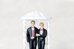 Gay. Marriage illustrated with two male figures Royalty Free Stock Image