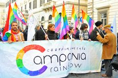 Gay activists at a manifestation in Italy Royalty Free Stock Photography