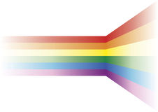 Gay background. Decorative element with the gay flag over white Royalty Free Stock Photo