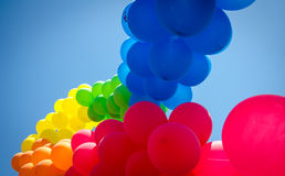 GAY BALLOON FLAG Royalty Free Stock Photography
