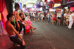 Gay bar on Walking Street in Pattaya Stock Photography