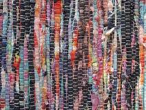 Gay canvas rug. Gay patchy bright cotton rug bohemian carpet Stock Photos