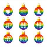 Gay christmas-07 ilustración del vector