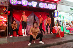 Gay Club on Walking Street in Pattaya Royalty Free Stock Photo
