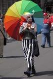 Gay con el paraguas colorido Fotografía de archivo libre de regalías