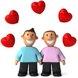 Gay couple. Fun 3d generated picture Stock Photography