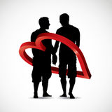 Gay couple. Vector illustration of gay couple stock illustration