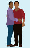 Gay Couple. African American gay male couple embracing Royalty Free Stock Image