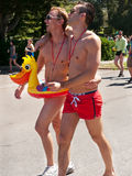 Gay couple at the Bay to Breakers San Francisco Royalty Free Stock Photography