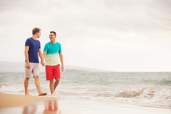 Gay couple on the beach Stock Image