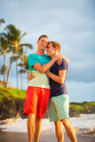 Gay couple on the beach Stock Photography
