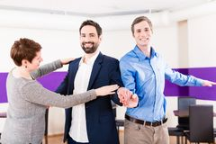 Gay couple in dance class learning Stock Photos