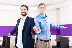 Gay couple in dance class learning Stock Photography