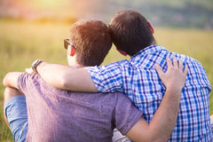 Gay couple enjoying summer Stock Image