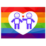 Gay couple and flower Stock Images