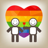 Gay couple and flower Stock Image