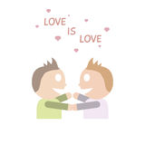 Gay couple love each other. Royalty Free Stock Photo