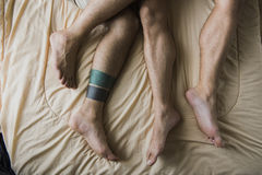 Gay Couple Love Home Concept Stock Images