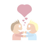 Gay couple in love Stock Photography