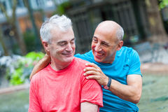 Gay Couple in New York. Gay Couple at Park in New York royalty free stock photography