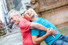 Gay Couple in New York Stock Photo