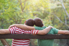 Gay couple in the park Stock Image