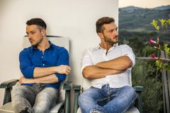 Gay couple in quarrel Royalty Free Stock Photography