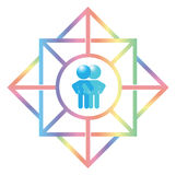 Gay Couple Symbol Logo Illustration Royalty Free Stock Photos
