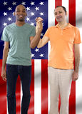 Gay Couple on 4th of July Royalty Free Stock Photos