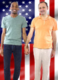 Gay Couple on 4th of July Royalty Free Stock Images