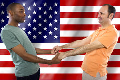 Gay Couple on 4th of July Stock Photos