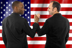 Gay Couple on 4th of July Royalty Free Stock Photography