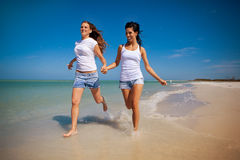 Gay couple on vacation Stock Photography
