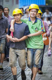 Gay couple workers Stock Image