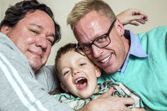 Gay Couple with Young Son Royalty Free Stock Image