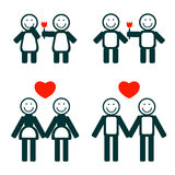 Gay couples generation Royalty Free Stock Image