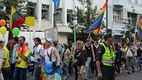Gay crowd parade stock footage