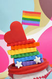 Gay cupcake Royalty Free Stock Photography