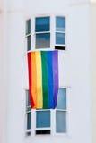 Gay del fFag del arco iris Imagen de archivo libre de regalías