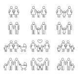 Gay family with children vector illustration